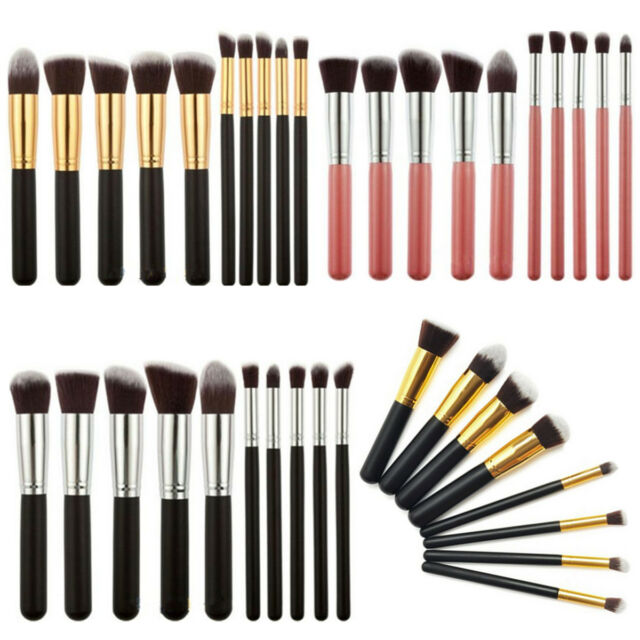 10Pcs Professional Cosmetic Makeup Brush Brushes Set Foundation Powder Eyeshadow