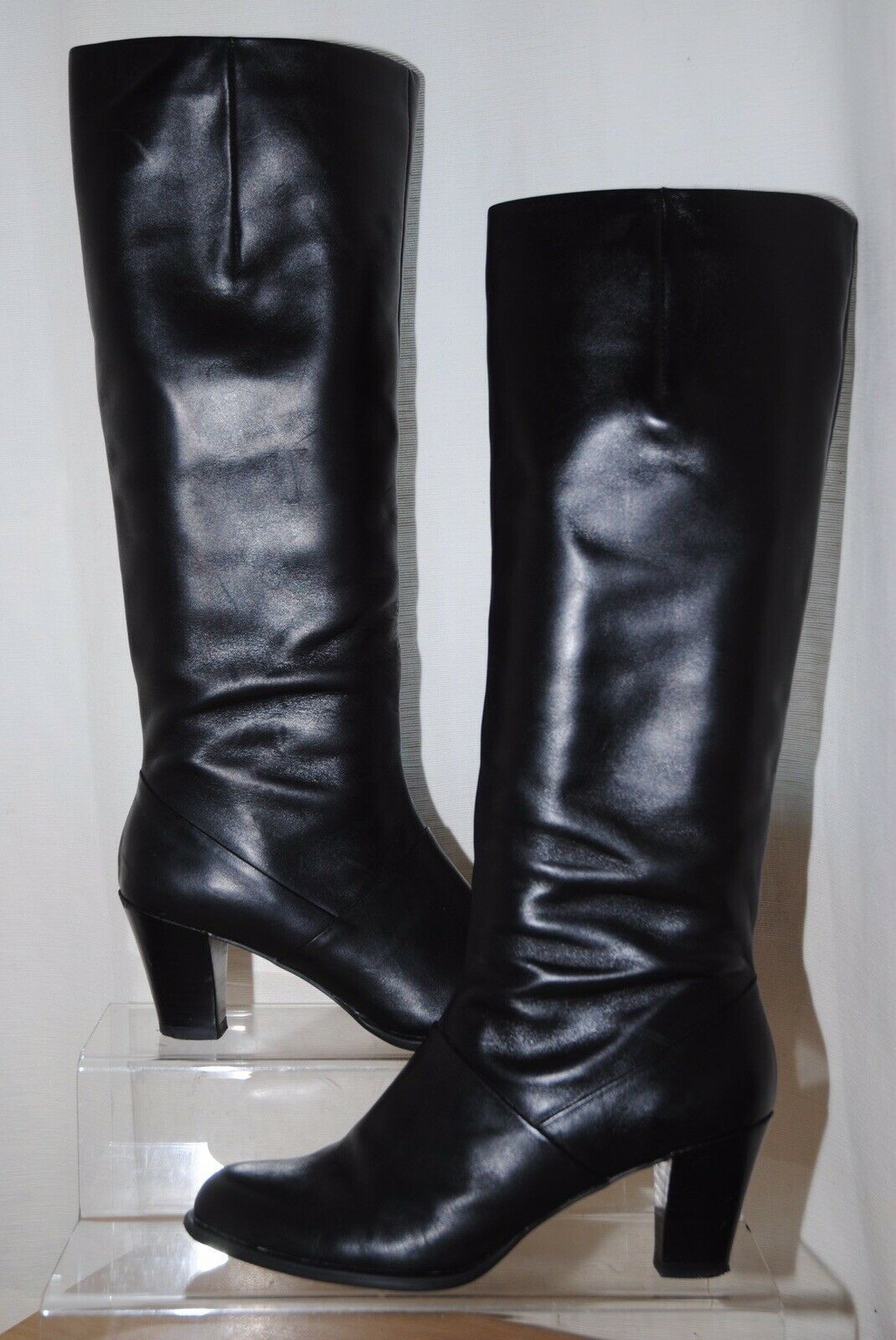 vela Caucho Ir a caminar  Ladies Clarks Stylish Knee Length BOOTS Caddy Belle 8 UK Black Leather D  for sale | eBay