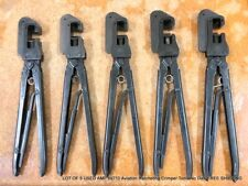 Lot Of 5 Used Amp 69710 Aviation Ratcheting Crimping Tools No Dies Free Shipping