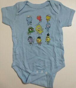 Details About Baby Sesame Street Cast Big Bird Cookie Monster Oscar Grouch Bert Ernie Onesie