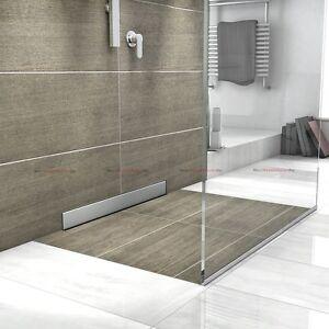 profi flach wandablauf duschrinne ablaufrinne bodenablauf dusch duschablauf ebay. Black Bedroom Furniture Sets. Home Design Ideas
