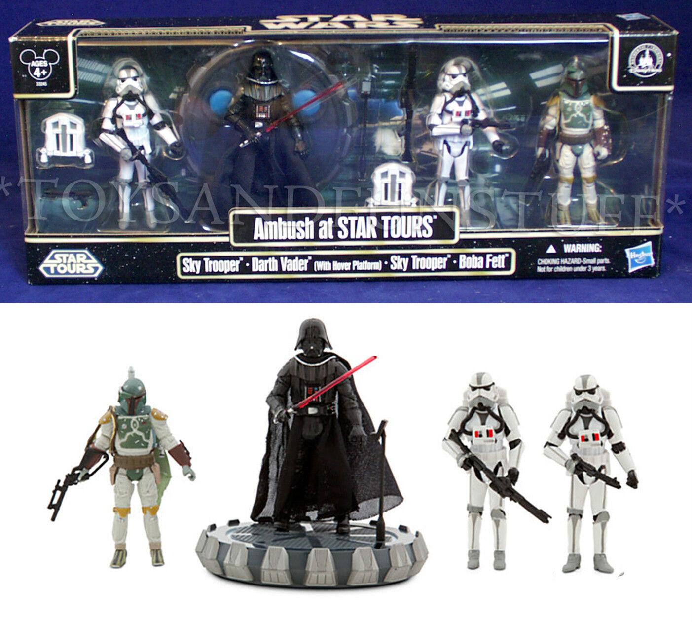 Nuevo-Emboscada en Star Tours - 4-Pack cielo Troopers Darth Vader Star Wars Boba Fett