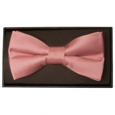 Dinamico Plain Pre Tied Rose Gold Handmade Mens Bow Tie Dickie Bow Wedding Bow Tie I Colori Stanno Colpendo