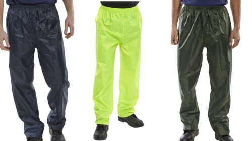 Olive Green Navy Waterproof Trousers // Over trousers Yellow