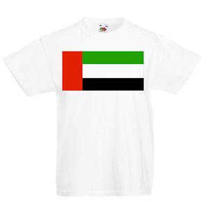 Emirati Arabi Uniti Maglietta Bambini Paese Bandiera Mappa Dubai Bambini Ragazzi Ragazze degli Emirati Arabi Uniti