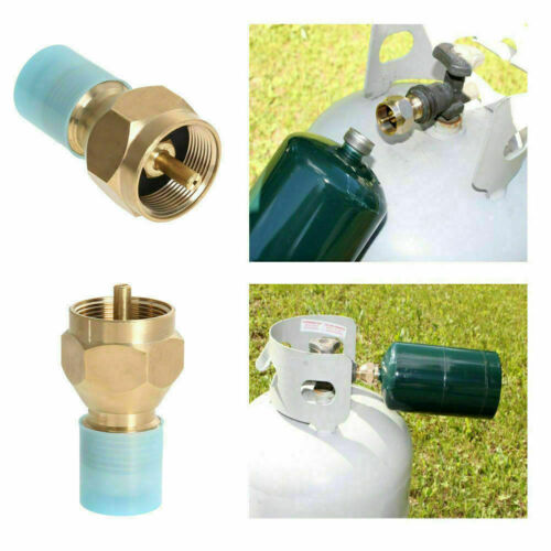Propane Refill Adapter Lp Gas Cylinder Tank Coupler Heater Camping Cooking BBQ