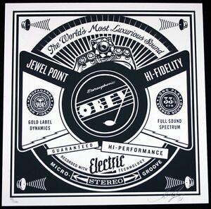 183eb1c45d6 Shepard Fairey 50 SHADES record serigraphie signée 200 Obey Giant- afficher  le titre d