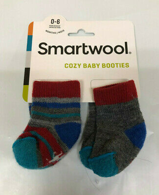 Deep Navy Size 0 to 6 Months - New Smartwool Infant Bootie Wool Hat Blue