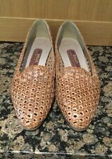 BALLY (INTERNATIONAL) TAN LEATHER SLIP ON SHOES / SIZE 8.5 / WORN GOOD CONDITION