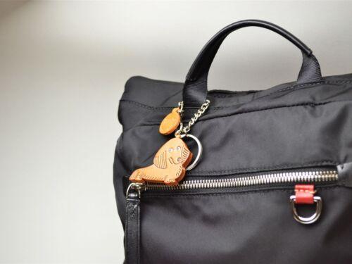 Dachshund Longhair Handmade 3D Leather Dog Bag//Ring Charm//VANCAade in Japan26060
