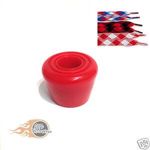 Roller-Skate-Toe-Stops-Stoppers-Pair-With-Optional-Laces-Red