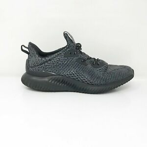 Adidas-Mens-Alphabounce-BW0428-Black-Running-Shoes-Lace-Up-Low-Top-Size-10