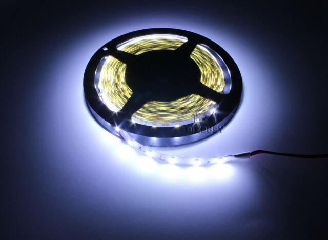 New 5M 5630 SMD 300 LEDs White Light Strip Super Bright DC 12V 5A 60LED/M