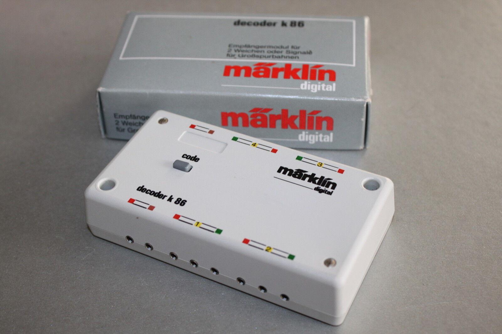 Märklin 6086 decoder k86 traccia 1 OVP