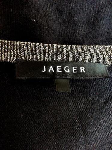 Taille Neck Tie Black Sparkle Jaeger M Ceinture Silver Jumper Scoop BWxFIZ7wOq