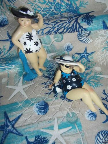 Dekoobjekt Badenixe m Handtuch Impressionen Strand Figur Dekofigur NEU NEU