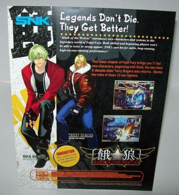 Neo Geo Snk Art Of Fighting 2 Original Nos Video Arcade Game Sales Flyer Japan Fifasteluce Com