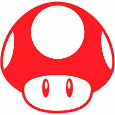 "Super Mario Bros Mushroom 2"" Vinyl Decal Sticker Car Window Laptop Nintendo"