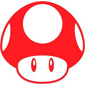 Details About Super Mario Bros Mushroom 8 Vinyl Decal Sticker Car Window Laptop Nintendo