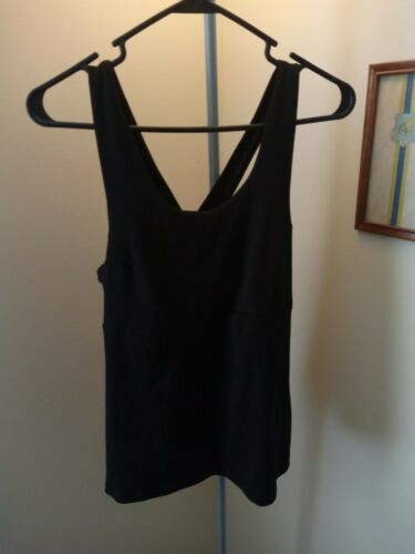Ibex Sports Top black large shelf bra