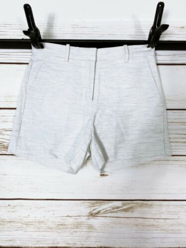 Gap Tailored Womens Shorts Size 00R Heather White