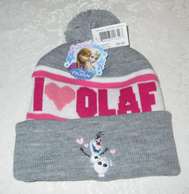 afefa52f04243 Disney Frozen I Love Olaf Women Ladies Cuffed Pom Beanie Knit Hat ...