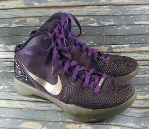 Nike-Zoom-Hyperdunk-2011-Men-039-s-Purple-Silver-Athletic-Basketball-Shoes-Size-10