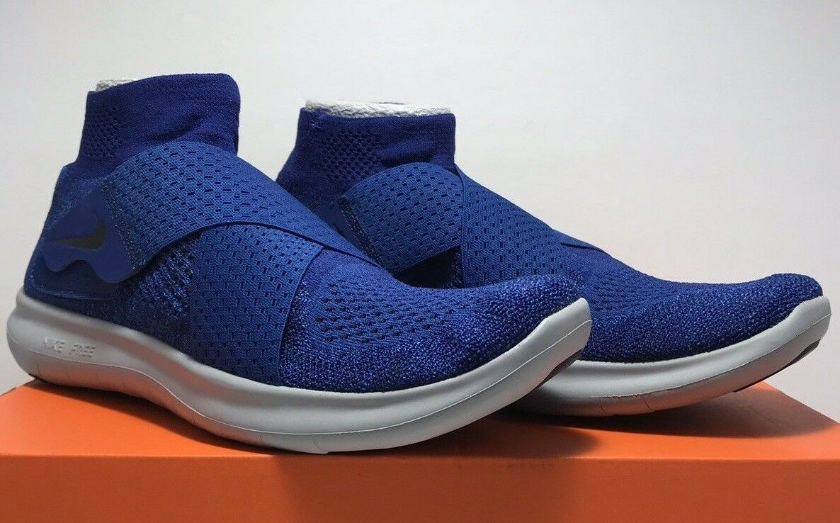 Nike Mens Size 10 Free RN Motion FK 2017 Running bluee shoes 880845 401