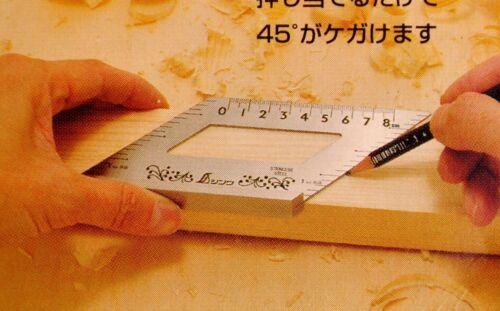 SHINWA 62060 équerre acier inoxydable 45 et 135 degrés double face JAPON