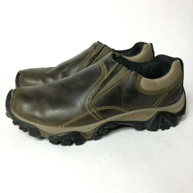 san francisco 100% top quality online for sale Merrell Moab Rover Moc Kangaroo Men's Size 8 Slip On Leather Hiking Loafer  Shoes