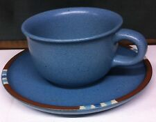 Dansk Mesa Sky Blue Japan Discontinued 2 Cups 2 Saucers China Dinnerware VGC