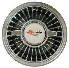 """Retro style 14"""" wheel cover W/ Spinner SET OF 4  Chrome Impala BelAir Corvette"""