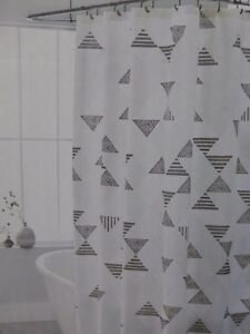 Threshold Faux Shibori Fabric Shower Curtain 72