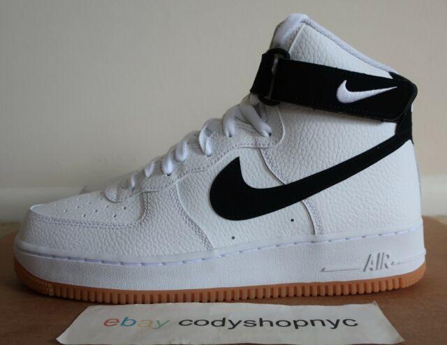 Nike Air Force 1 High 07 2 White Black Gum Bottom Mens At7653 100