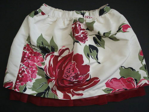 NWT GAP PHOTO OP Rose Print Ivory Tulle SKIRT 4T 5T NEW 4 5 Years