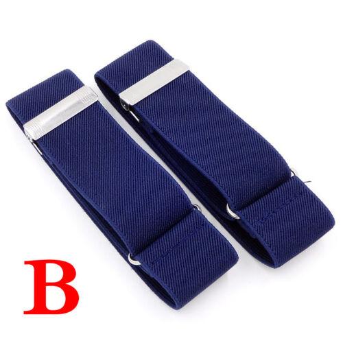 UK Men/'s Elastic Cuff Sleeve Garters Shirt Sleeve Holders Garters Adjustable