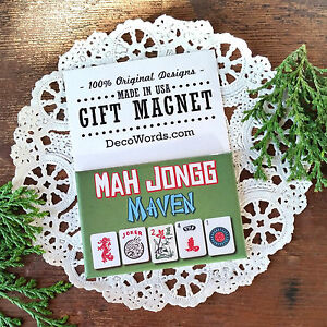 DECO-GIFT-MAGNETS-Mah-Jongg-Maven-Fridge-Magnet-Great-Gift-Idea-USA-Pkgd-New