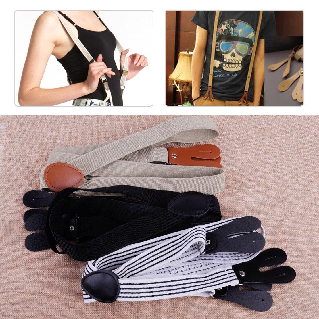 Hosenträger Knopflöcher Lederlaschen knöpfen Hose Y-Form Einknöpfen Straps