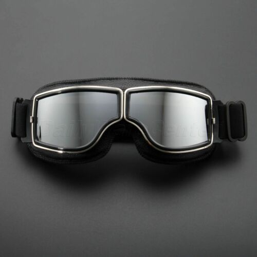 Retro Black Frame Motorcycle Glasses Offroad Motocross Helmet Goggles Eyewear