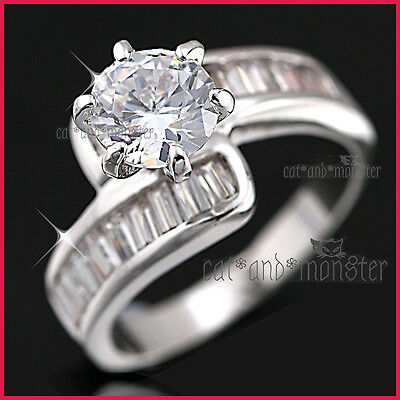 9K GOLD GF R172 2CT INFINITY SQUARE SIMULATED DIAMONDS WOMENS SOLID WEDDING RING
