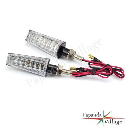 Pair 12V ABS Motorcycle LED Turn Signal Light Indicators For Honda Yamaha Suzuki