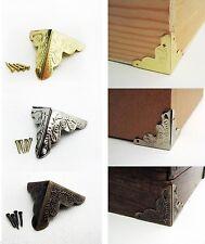 1 100x Antique Jewelry Wine Gift Box Wooden Case Corner Protector Guard M1152 Ql
