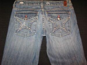 744fab45b People's Liberation Low Flare Star Flap Pocs Distressed Sz 26 | eBay