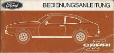 FORD   CAPRI  II  1975  Betriebsanleitung  ´74  Bedienungsanleitung Bordbuch  BA