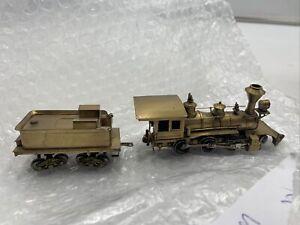 Super-Rare-Brass-Japan-HO-scale-2-6-0-Locomotive-amp-Tender-M