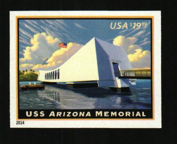 2014 $19.99 USS Arizona Memorial, Express Mail, Imperfo