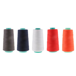 1500 Yards Polyester Sewing Machine Thread 20S//2 for Jeans Leather Case Grey