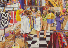 1960s Fashion Retro Vintage Clothes Shop London Carnaby Street Birthday Card