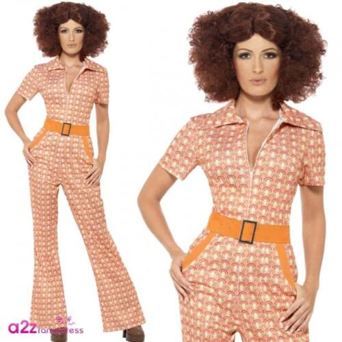 MENS /& WOMENS AUTHENTIC 70S DISCO FLARES GROOVY HIPPY DRESS FANCY DRESS COSTUME