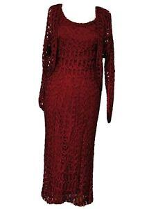 Gina-Bacconi-Vestido-Bolero-Talla-12-Rojo-Oscuro-Inteligente-Ocasion-Boda-Carreras-De-Crucero